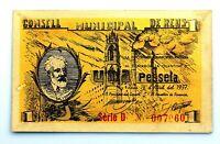 Spain-GUERRA CIVIL. Billete 1 peseta 14 de Abril 1937. Reus (Tarragona) EBC+/XF+