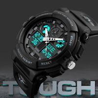 SKMEI Charm Men's Waterproof Sport Army Alarm Date Analog Digital Wrist Watch