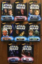 Disney - Hot Wheels - Star Wars set of 8 cars Luke Skywalker Yoda Darth Vader