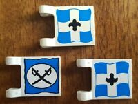 3x Lego Pirates Imperial Flags Vintage and Rare