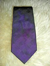 Gorgeous Isaia Silk Iridescent Amethyst Textured 7 Fold Tie MINT! LNWOT