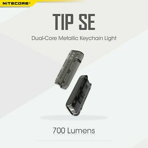 Nitecore TIP SE  Osram P8 Type-C Charge Pocket Keychain Magnetic Torch BLACK