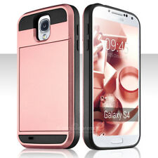 For Samsung Galaxy S3 S4 S5 Card Holder Wallet Case Hybrid Silicone Hard Cover