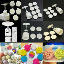 Mooncake DIY Flower Stamps Moon Cake Mould Pastry Decoration Baking Too