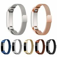 Metal Magnetic Milanese Stainless Watch Band Strap For FitBit Alta HR Tracker