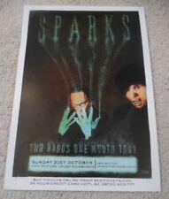 Sparks - oct 2012 - live music show memorabilia concert gig tour poster