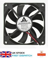 12V 2Pin DC Brushless 8cm 80x80x15mm 80mm Computer Case Cooling Fan 8015 New UK