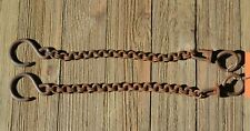 """10"""" Double Ring Link Bit Rein Chains with Natural Rust Finish"""