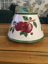 Large Jar Candle Shade/topper Apple Print