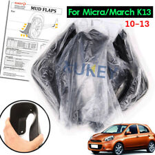 4x Mud Flaps For Nissan Micra March K13 10 11 12 13 14 Splashs Guards Mudguards