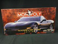 Monopoly Corvette Edition 1998 NEW Factory Sealed w/8 Custom Pewter Game Tokens