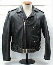 Vintage 50's Schott Perfecto 613 One Star Black Leather Motorcycle Jacket 44