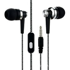 Wired Earphone In-ear Braided Wiring Cord Music Subwoofer Headset 3.5mm Stereo