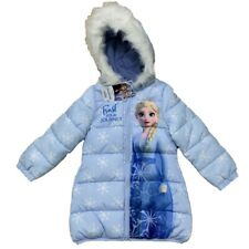 Disney Frozen Girls Coat Padded Jacket Hooded 6 7 8 9 10 & 11 Years