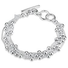 Damen  Armband 925 Sterling Silber plattiert Armkette Seil-Kett Bracelet Charme.