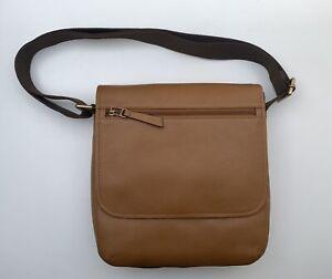 BNWT Fossil Trey Leather City Bag Saddle Guaranteed Original