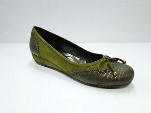 Lodi Ante Kaki (3449) Womens Khaki Green Slip On Flat Shoes - UK 5 EU 38