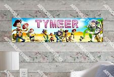 Personalized/Customized Toy Story Name Poster Wall Art Decoration Banner