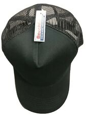 Beechfield Snapback Baseball Cap Hat Men Unisex Mesh Adjustable 100% Cotton