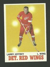 Larry Jeffrey Detroit Red Wings 1970-71 Topps Hockey Card #28 NM/M