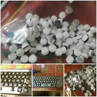LOT 85 PASTILLES MOUSSE ET MYLAR POUR CLAVIER APPLE LISA OU KEY TRONIC KEYBOARD