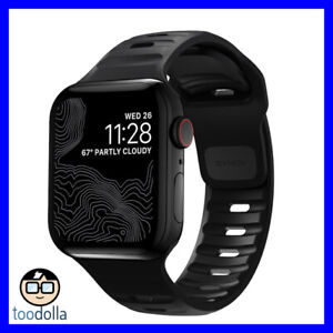 NOMAD Waterproof Sport Strap / Band for Apple Watch 42/44mm, Black