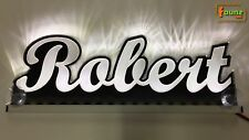"""LED LKW Trucker Leuchtschild Namensschild """"Robert"""" Wunschname 12 24V weiß ©faunz"""