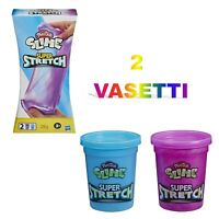 pasta modellabile slime super stretch 2 vasetti play doh gioco per bambini