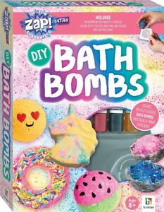 Bath Bomb Kit DIY Make Your Own Includes 3 Moulds  3 Dyes And 48 Page Book