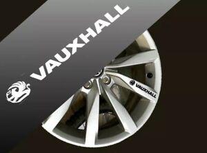 4 X VAUXHALL Quality Wheels  Stickers for astra, corsa,vivaro,insignia 100x17mm