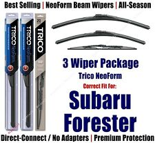 3-Pack Wipers Front & Rear NeoForm fit 1998-2002 Subaru Forester 16210/190/30150