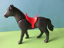 PLaymobil*Pferd schwarz rot 3268 Drachenfestung 3269 Gefolge Ritterburg 3319