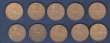 G Lot de 10 pièces de 10 Francs Mathieu TB TTB - Vème République, 1959 -