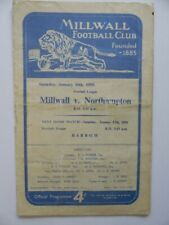 More details for millwall v northampton town | 1958/1959 | fourth division