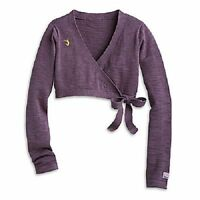 American Girl Doll Isabelle Purple Wrap Cardigan Sweater FOR GIRLS Large 14/16
