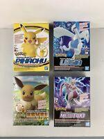 Bandai Pokemon Mewtwo Model Kit Pikachu Model Kit Eevee Lugia Model Kit 4pcs