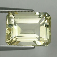 6.95 ct  UNHEATED -  GENUINE - UNTREATED NATURAL YELLOW TOPAZ - OCTAGON 9185/F