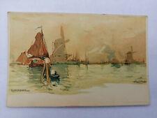 E* Netherlands Dordrecht Henri Cassiers Windmills along the Shore W de Haan