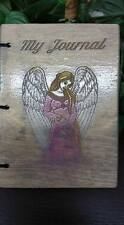 Beautiful Angel Personalized Wood Engraved Journal, Wedding Book, Journey Book