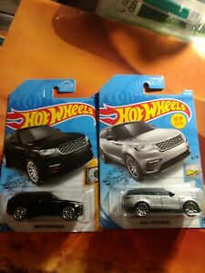 💥2019 2020 Hot Wheels Range Rover Velar Lot of 2 Colors Silver And Black💥