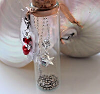 Schmuck im Glas Kette Wunschkugel Make a wish Engel Glückssterne Mitbringsel