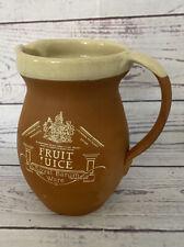 More details for royal barum ware fruit juice jug terracotta