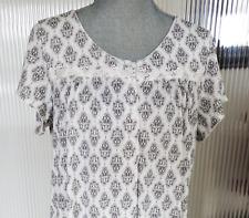 ARIA Geometric print Knit LONG NIGHTGOWN Short Sleeves Medium NWT msrp $52