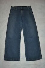 LEVIS STRAUSS Misses Women's 8  blue denim FIELD TROUSERS  jeans EUC