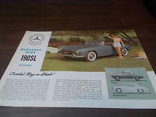 1961 Mercedes 190SL Sales Brochure/Flyer