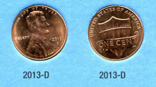 2013 D Abe Lincoln Shield American Penny 1 Cent Us U.S America One Coin #B1