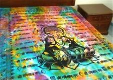 "Ganesh Printed Tapestry 72' X 108""  Tie / Dye Go Go Black KING Cotton Bed Spread"