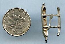 Vintage Canoe Boat Sterling Silver Pendant Charm