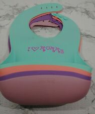 4 Baby Bibs Waterproof Silicone  Infant Feeding Bibs Crumb Catcher Washable