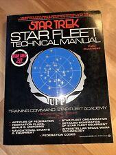 Star Trek Star Fleet Technical Manual 1986 20th Anniversary Edition Vg